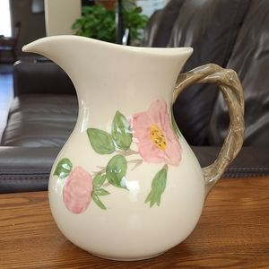 Franciscan  desert  rose  water pitcher
